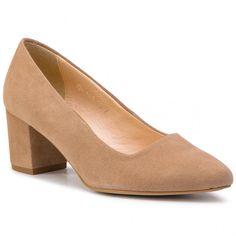 Pantofi OLEKSY - 649/809 Zamsz Cappucino Furla, Clarks, Tommy Hilfiger, Calvin Klein, Kitten Heels, Converse, Pumps, Shoes, Products