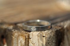 Handmade in Canada fair trade Hammered Sustainable Sterling Silver Stacking Ring - eco-friendly Stacking ring