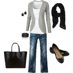 Gray and black- if I could only have one outfit- this would be it