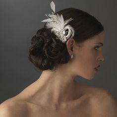 rhinestone floral galore bridal feather hair brooch   feather fascinator hair clip hair accessories view1