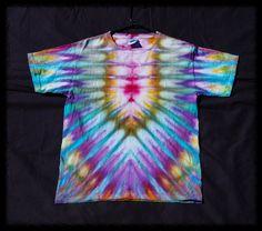 Childrens T-Shirt Batik Eis gefärbten Akkordeon von TerribleTaste