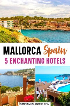 Mallorca Spain 5 Enchanting Hotels. From grand castles to charming fincas (farm estates), there are plenty of great places to stay in Mallorca! These five are among the best hotels on the island. #Mallorca #Majorca #Spain #luxuryresort #luxuryhotel #hotelreview 5 Star Resorts, All Inclusive Resorts, Hotels And Resorts, Best Hotels, Luxury Travel, Us Travel, Beach Cove, Affordable Hotels, Outdoor Stone