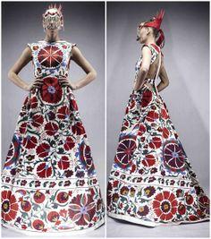 Fashion Designer - Aya Bapani, traditiona uzbek embroidered textiles - suzani. MODERNO (INTERESANTE)