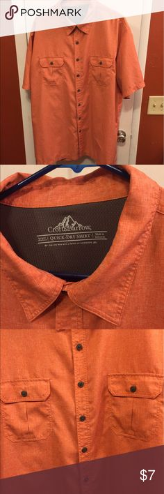 Croft and barrow short sleeve shirt XXL ORANGE shirt sleeve button down croft & barrow Shirts Casual Button Down Shirts