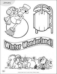 Use these fun Winter Wonderland-themed clip art to enhance your bulletin boards, newsletters and activity sheets! #winter #winterwonderland #snowman #bulletin boards #artactivity