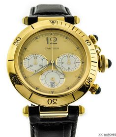Men's Cartier Pasha Yellow Gold Chronograph Quartz Watch for sale online Fine Watches, Watches For Men, Men's Watches, Cartier Pasha, Cartier Jewelry, Jewellery, Luxury Watch Brands, Discount Watches, Beautiful Watches