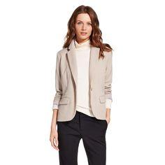 Women's Bi-Stretch Twill Blazer Vintage Khaki 2 - Merona