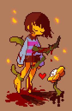 au alice in wonderland fontcest Undertale Pixel Art, Undertale Flowey, Undertale Fanart, Anime Pixel Art, Mlp Fan Art, Toby Fox, Underswap, Cute Art, Illustration Art