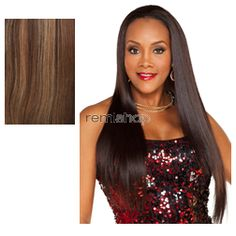 Vivica Fox Express Wig FHW-145 - Color P4/27/30 - Synthetic (Curling Iron Safe) Half Wig