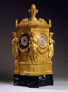 An Empire astronomical clock by Jean Joseph Lepaute