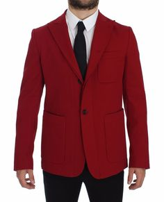 b8030b87 Dolce & Gabbana Absolutely stunning, Authentic, brand new with tags Dolce &  Gabbana red cotton stretch two button Blazer Jacket.