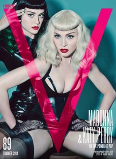 Madonna Katy Perry V Magazine Cover Madonna & Katy Perry for V Mag UPDATE