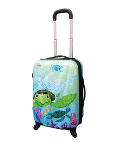 Love this Turtle Expandable Wheeled Carry-On by Travelers Club Luggage on #zulily! #zulilyfinds