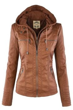 Stylish Convertible Collar Long Sleeve Solid Color Zippered Women's JacketJackets