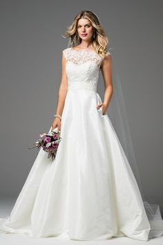 Designer: Wtoo Style: Chase. Available at Bliss Bridal in Wisconsin. www.blissbridalonline.com