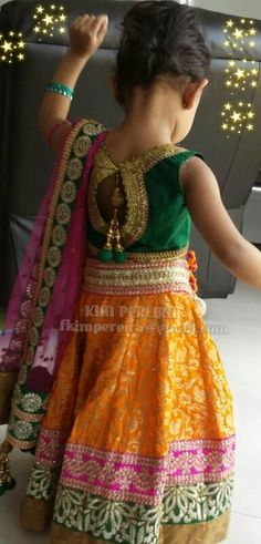 All the way.....Melbourne, Australia :) Kids Lehenga, Baby Girl Dresses, Cute Dresses, Latest Designer Sarees, Ethnic Dress, Kids Indian Wear, Kids Ethnic Wear, Kids Wear, Kids Girls