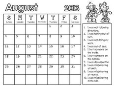 Looking for a quick and easy way to track behavior in your classroom? These monthly behavior calendars are easy to use and will help keep your student's behavior on track!  THESE WILL BE UPDATED TO RE-DOWNLOAD FOR FREE EACH YEAR!