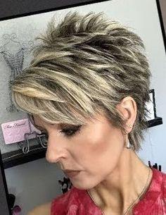 Short Choppy Hair, Funky Short Hair, Short Grey Hair, Very Short Hair, Short Hair With Layers, Short Hair Cuts For Women, Edgy Hair, Short Haircut Styles, Short Hair Styles Easy