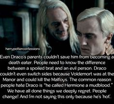 Even Dracos parents couldnt save him from becoming...
