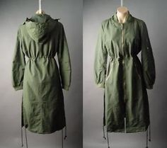 Army-Green-Military-Hooded-Anorak-Parka-Long-Bomber-Jacket-206-mv-Coat-S-M-L-XL