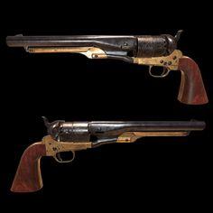 Pietta Model 1860 Army .44 Caliber Black Powder Revolver, Benjamin Kavoosi on ArtStation at https://www.artstation.com/artwork/xeQ1Y