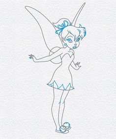 how to draw tinker bell of pixie hollow