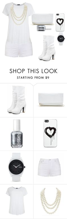 """""""White queen"""" by sageross55 ❤ liked on Polyvore featuring GUESS, Essie, Zero Gravity, Nixon, Ally Fashion and Chanel"""
