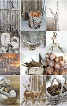Winter - Xmas - birch - pinecones - antlers - neutrals