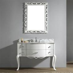 Virtu USA GS-6148-WM-WH-00 Charlotte 48-in Single Bathroom Vanity Cabinet Set