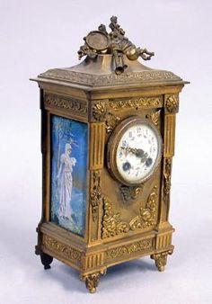 Tiffany & Co. Enamel Decorated Carriage Clock