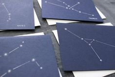 How fun! A 12month Zodiac Constellation Card Series by ForeshadowPress, $30.00