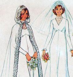 Vintage Princess Wedding Gown & Hooded Cape Sewing Pattern by TheOldLeaf, $14.95. #PrincessBride