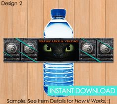 How To Train Your Dragon Bottle Labels INSTANT by PaperCarousel