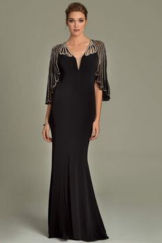 Jovani jersey beaded gown