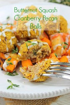 Seasonal Meatless Butternut Balls! - Peachy Palate