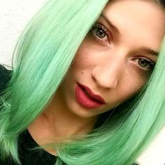 Turqoise green hair