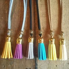 The Italian tassel suede necklace - @boho&arrow on Facebook to order