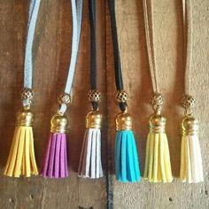 The Italian tassel suede necklace - @boho&arrow on Facebook to order