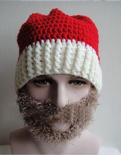 beb589aff9cdd Santa Claus Wool Balaclava. Knitting Warm Ear Santa Hat Knit Winter  Christmas Hats ...