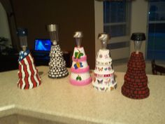 Mini Clay Pot Lighthouses