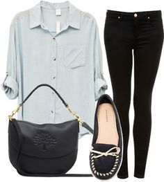 Untitled #321 by hellotia featuring a blue shirt