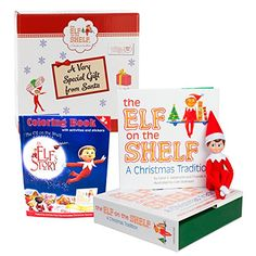 Elf on the Shelf Blue Eyed Boy with Bonus An Elf Story Coloring Book - Direct From North Pole in Limited Edition Official Gift Box -- Click here for more details @
