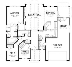 floor plans online addition bedroom house well : [Floor Plan Planner Tritmonk Home Interior Flooring Design Log Efficientr Style Coast Mountain Homes] Basement House Plans, Lake House Plans, House Plans One Story, Bungalow House Plans, Craftsman Style House Plans, Cottage House Plans, Dream House Plans, House Floor Plans, Craftsman Ranch