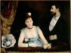 """""""Une loge aux Italiens"""" de Eva Gonzales. Paris, musée d'Orsay - Photo (C) RMN-Grand Palais (musée d'Orsay) / Hervé Lewandowski"""