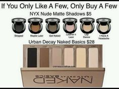Nyx dupes for urban decay