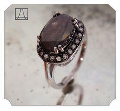 !!!! Anna Sheffield Custom Grey Diamond Rosette