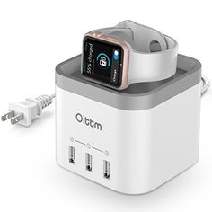 Oittm Apple Watch Stand, [2 in 1] 4 Ports USB 3.0 Hub Desktop Smart Charging Station USB Wall Charger with Intelligent Auto Detect Technology for iPhone, iPad, Samsung and More (White) Oittm http://www.amazon.com/dp/B019SO9EHI/ref=cm_sw_r_pi_dp_YiUSwb0D7CH6F