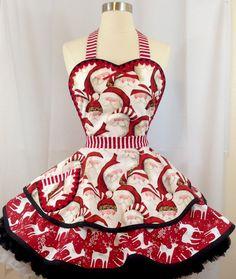 Vintage Apron Pattern, Aprons Vintage, Christmas Aprons, Christmas Sewing, Christmas Program, Cute Aprons, Apron Designs, Sewing Aprons, Disney Diy