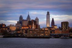 Sun rises on Philadelphia
