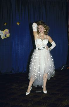 "Madonna, ""Like a Virgin"" bridal dress, MTV Video Music Awards, 1984"